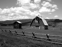 Classic Barn in Black and White